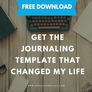 Download My Journaling Template Feelgoodrituals.com