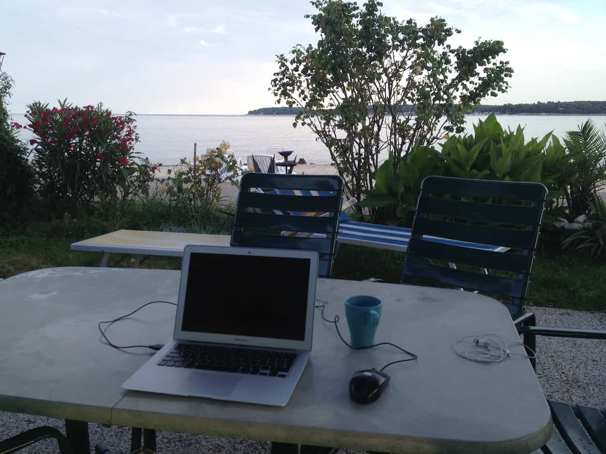 My office at dawn